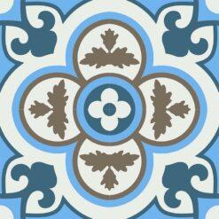 Gạch bông CTS 129.2(1-4-16-28) - 4 viên - Encaustic cement tile CTS Gạch bông CTS 134.1(2-4-13) - Encaustic cement tile CTS 129.2(1-4-16-28) - 4 tiles