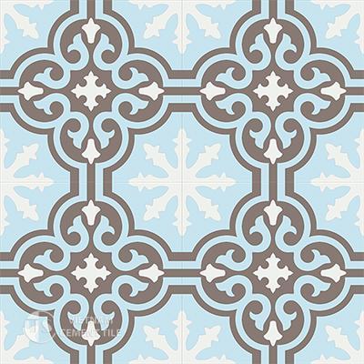Gạch bông CTS 1.18(2-4-14) - 4 viên - Encaustic cement tile CTS 1.18(2-4-14)-4 tiles