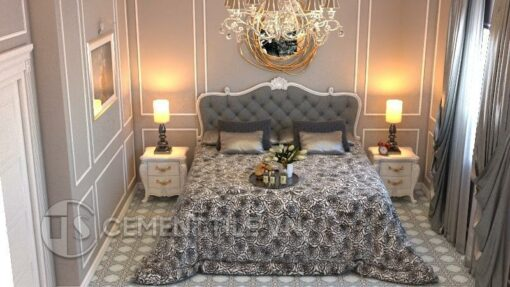 Gạch bông cts 1.18 lát nền phòng ngủ