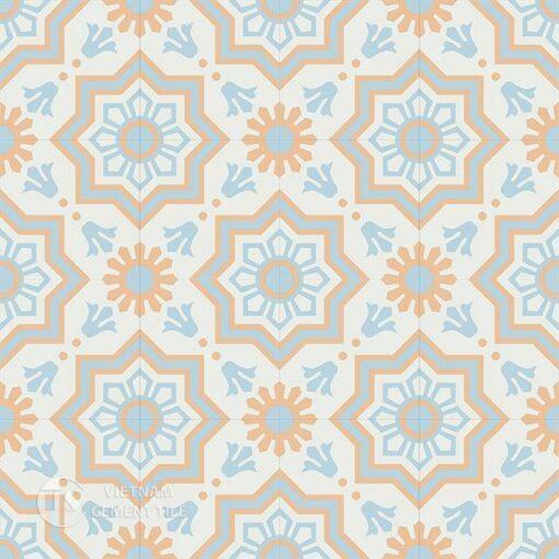 Gạch bông CTS 113.3(2-4-11) - 16 viên - Encaustic cement tile CTS 113.3(2-4-11)-16 tiles