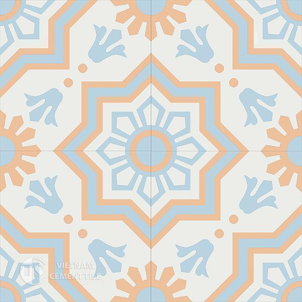Gạch bông CTS 113.3(2-4-11) - 4 viên - Encaustic cement tile CTS 113.3(2-4-11)-4 tiles