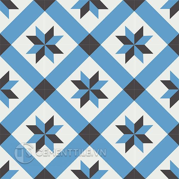 Gạch bông CTS 12.8(4-8-13) - 16 viên - Encaustic cement tile CTS 12.8(4-8-13) - 16 tiles