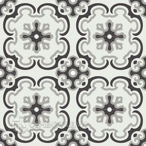 Gạch bông CTS 5.13(4-9-13) - 4 viên - Encaustic cement tile CTS 5.13(4-9-13) - 16 tiles
