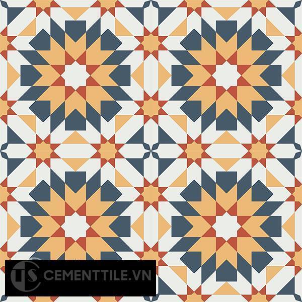 Gạch bông CTS 56.3(3-4-5-6) - 4 viên - Encaustic cement tile CTS 56.3(3-4-5-6)-4 tiles