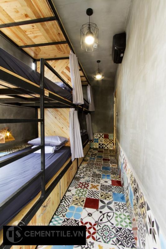 gạch bông việt nam tại memory hostel