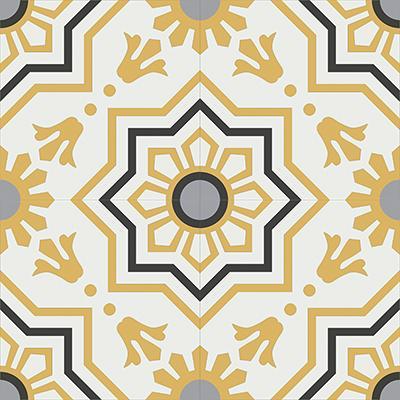 Gạch bông CTS 113.4(4-6-9-13) - 4 viên - Encaustic cement tile CTS 113.4(4-6-9-13) - 4 tiles