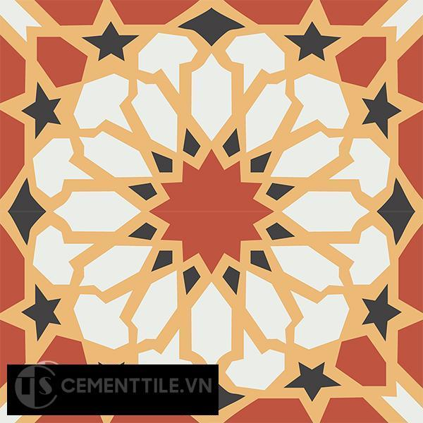 Gạch bông CTS 79.1(4-5-6-13) - 4 viên - Encaustic cement tile CTS 79.1(4-5-6-13)-4 tiles