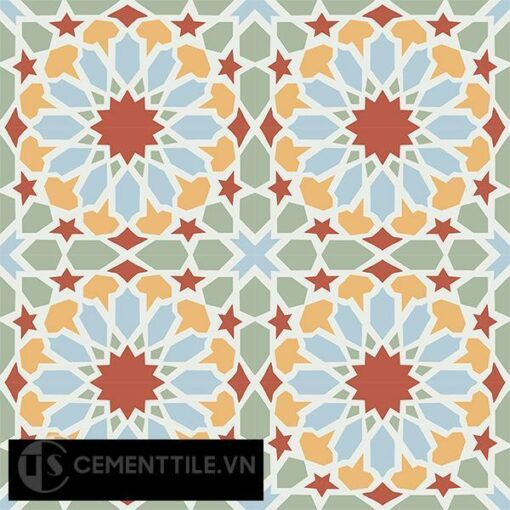 Gạch bông CTS 79.2(2-4-5-6-7) - 16 viên - Encaustic cement tile CTS 79.2(2-4-5-6-7)-16 tiles
