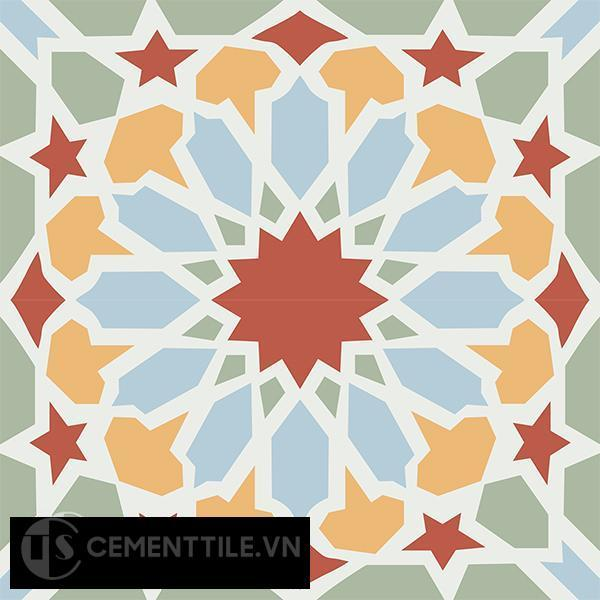 Gạch bông CTS 79.2(2-4-5-6-7) - 4 viên - Encaustic cement tile CTS 79.2(2-4-5-6-7)-4 tiles
