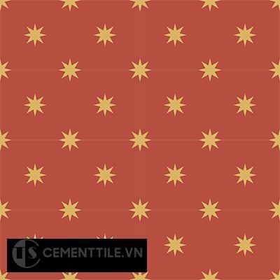 Gạch bông CTS 96.1(5-6) - 16 viên - Encaustic cement tile CTS 96.1(5-6)-16 tiles