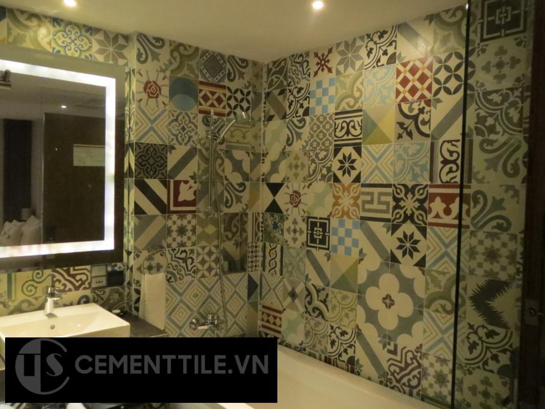 Thay đổi không gian nhà tắm bằng gạch bông