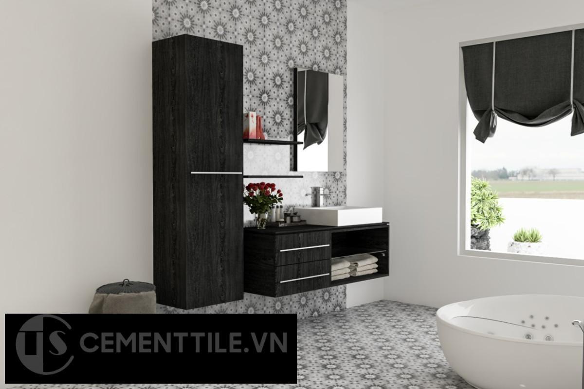 gạch bông trang trí phòng tắm ấn tượng