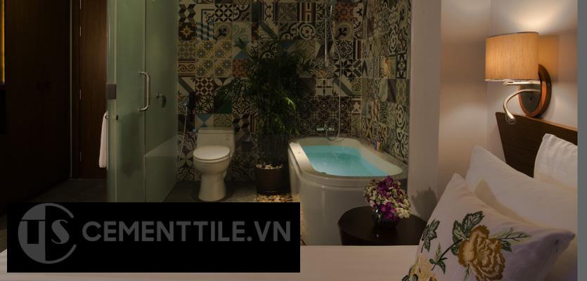 gạch bông trang trí nhà tắm