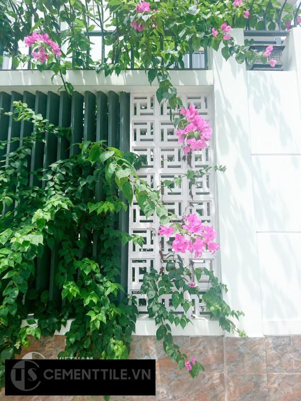 trang trí nhà bằng gạch bông gió