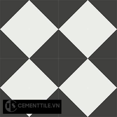 Gạch bông cổ điển CTS 101.1 - 16 viên ( Encaustic cement tile 101.1 - 16 tiles )
