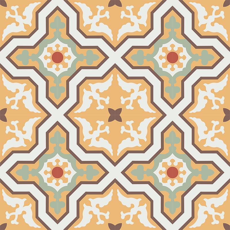 Gạch bông CTS 124.1(4-5-6-7-14) - 16 viên - Encaustic cement tile CTS 124.1(4-5-6-7-14) - 16 tiles