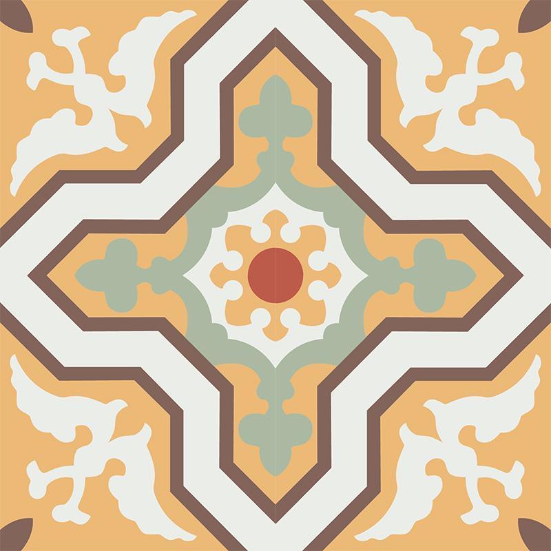 Gạch bông CTS 124.1(4-5-6-7-14) - 4 viên - Encaustic cement tile CTS 124.1(4-5-6-7-14) - 4 tiles