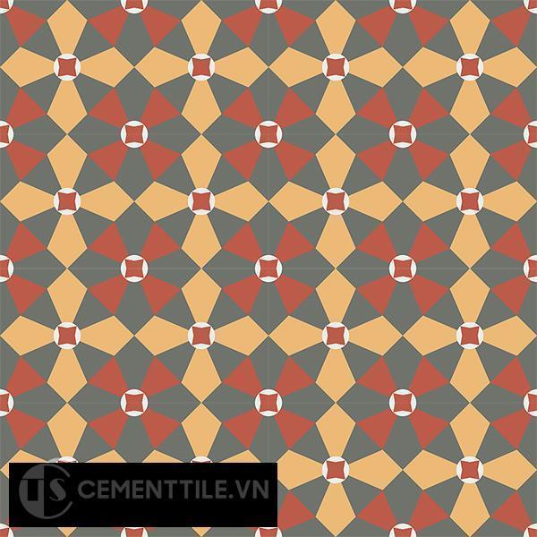 Gạch bông CTS 133.1(3-4-5-6) - 16 viên - Encaustic cement tile CTS 133.1(3-4-5-6)-16 tiles