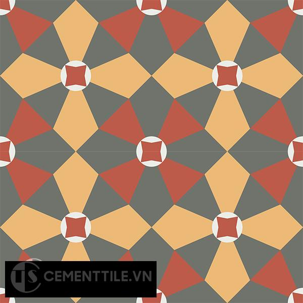 Gạch bông CTS 133.1(3-4-5-6) - 4 viên - Encaustic cement tile CTS 133.1(3-4-5-6)-4 tiles