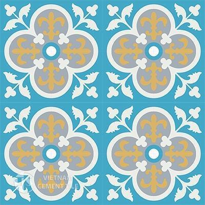 Gạch bông CTS 15.4(4-6-16-50)-16 viên - Encaustic cement tile CTS 15.4(4-6-16-50)-16 tiles