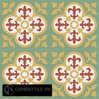 Gạch bông CTS 15.8(4-5-6-7) - 16 viên - Encaustic cement tile CTS 15.8(4-5-6-7)-16tiles