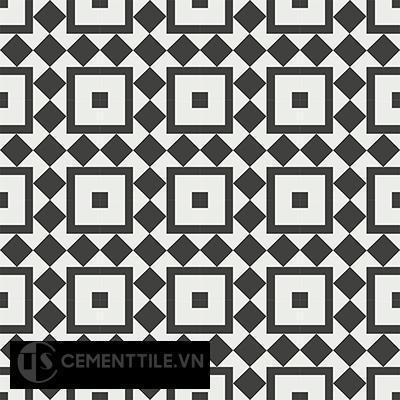 Gạch bông cổ điển CTS 92.1 - 16 viên ( Encaustic cement tile 92.1 - 16 tiles )