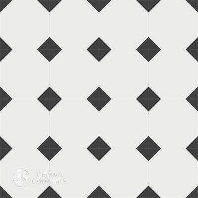 Gạch bông cổ điển CTS 99.1 - 16 viên ( Encaustic cement tile 99.1 - 16 tiles )