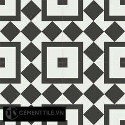 Gạch bông cổ điển CTS 92.1 - 4 viên ( Encaustic cement tile 92.1 - 4 tiles )