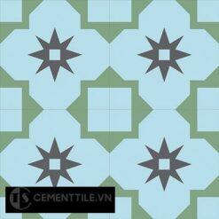 Gạch bông cổ điển CTS 104.1 - 4 viên ( Encaustic cement tile 104.1 - 4 tiles )