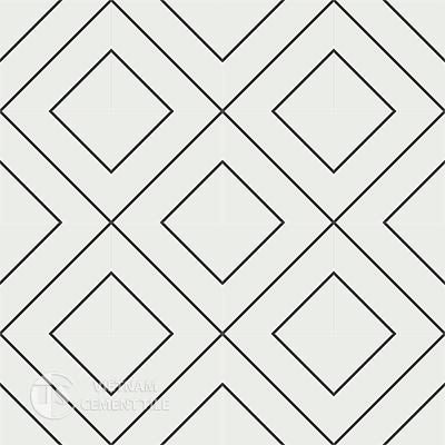 Gạch bông CTS 132.1(4-13)-16 viên - Encaustic cement tile CTS 132.1(4-13)-16tiles