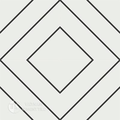 Gạch bông CTS 132.1(4-13)-4 viên - Encaustic cement tile CTS 132.1(4-13)-4tiles