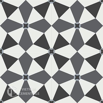 Gạch bông CTS 133.2(4-15-32-50)-4 viên  - Encaustic cement tile CTS 133.2(4-15-32-50)-4 tiles