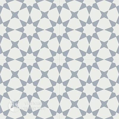 Gạch bông CTS 141.2(4-50)-4 viên  - Encaustic cement tile CTS 141.2(4-50)-4 tiles