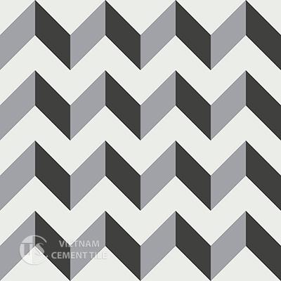 Gạch bông CTS 148.1(4-9-13) - 16 viên - Encaustic cement tile CTS 148.1(4-9-13)-16tiles