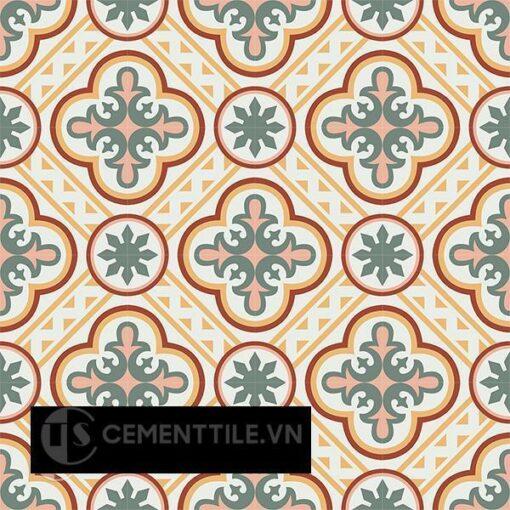 Gạch bông CTS 153.1(4-5-6-140-165)-16 viên - Encaustic cement tile CTS 153.1(4-5-6-140-165)-16 tiles