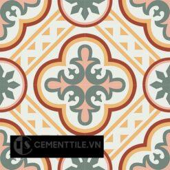 Gạch bông CTS 153.1(4-5-6-140-165)-4 viên - Encaustic cement tile CTS 153.1(4-5-6-140-165)-4 tiles
