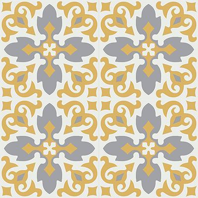 Gạch bông CTS 18.10(4-6-9)-4 viên - Encaustic cement tile CTS 18.10(4-6-9)-4 tiles