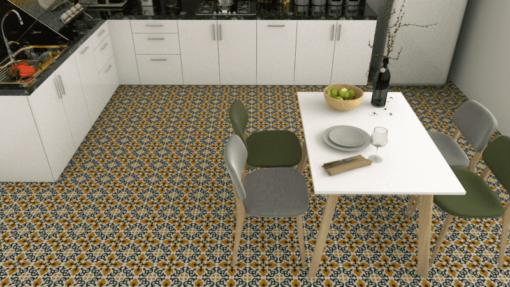 Gạch bông CTS 18.7 lát nền nhà bếp