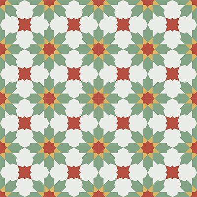 Gạch bông CTS 3.16(4-5-6-7)-4 viên - Encaustic cement tile CTS 3.16(4-5-6-7)-4tiles