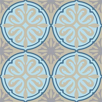 Gạch bông CTS 49.2(1-2-9-12)-4 tiles - Encaustic cement tile CTS 49.2(1-2-9-12)-4 tiles