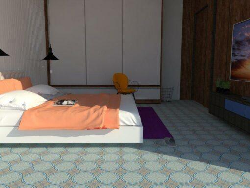Gạch bông cts 49.2 lát nền phòng ngủ