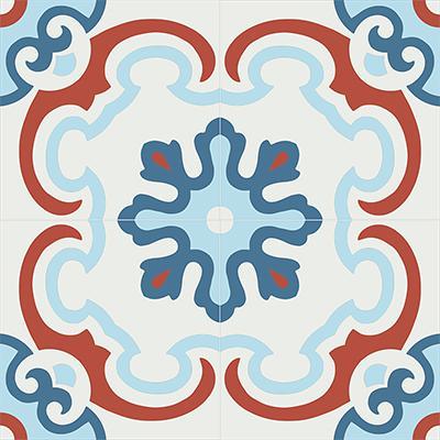 Gạch bông CTS 5.3(1-2-4-5)-4 viên  - Encaustic cement tile CTS 5.3(1-2-4-5)-4tiles