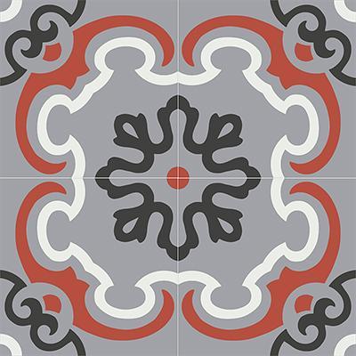 Gạch bông CTS 5.4(4-5-9-13)-4 viên - Encaustic cement tile CTS 5.4(4-5-9-13)-4tiles