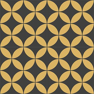 Gạch bông CTS 6.11(6-13)-4 viên - Encaustic cement tile CTS 6.11(6-13)-4 tiles
