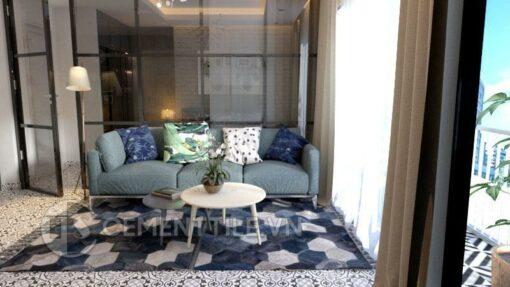 Gạch bông cts 60.1 trang trí phòng khách