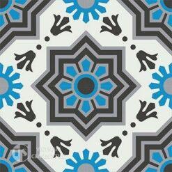 Gạch bông CTS 113.1(4-8-9-13) - 4 viên - Encaustic cement tile CTS 113.1(4-8-9-13)-4 tiles