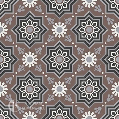 Gạch bông CTS 113.2(4-9-13-25) - 16 viên - Encaustic cement tile CTS 113.2(4-9-13-25)-16 tiles