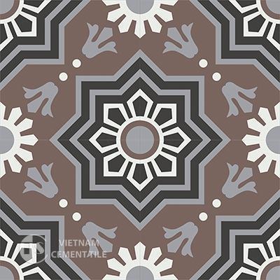 Gạch bông CTS 113.2(4-9-13-25) - 4 viên - Encaustic cement tile CTS 113.2(4-9-13-25)-4 tiles
