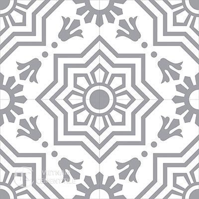 Gạch bông CTS 113.6(4-9)-4 viên - Encaustic cement tile CTS 113.6(4-9)-4 tiles