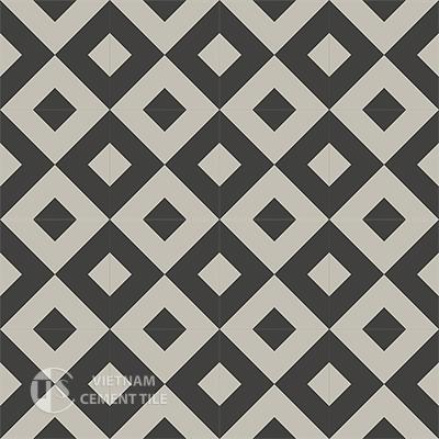 Gạch bông CTS 115.4(13-27) - 16 viên - Encaustic cement tile CTS 115.4(13-27)-16 tiles
